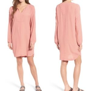 Madewell Du Jour Tunic Dress in Blush Pink